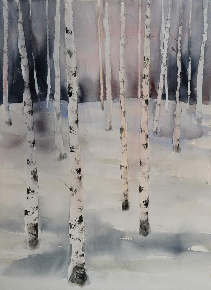 Skog med dompap (70 x 52 cm)