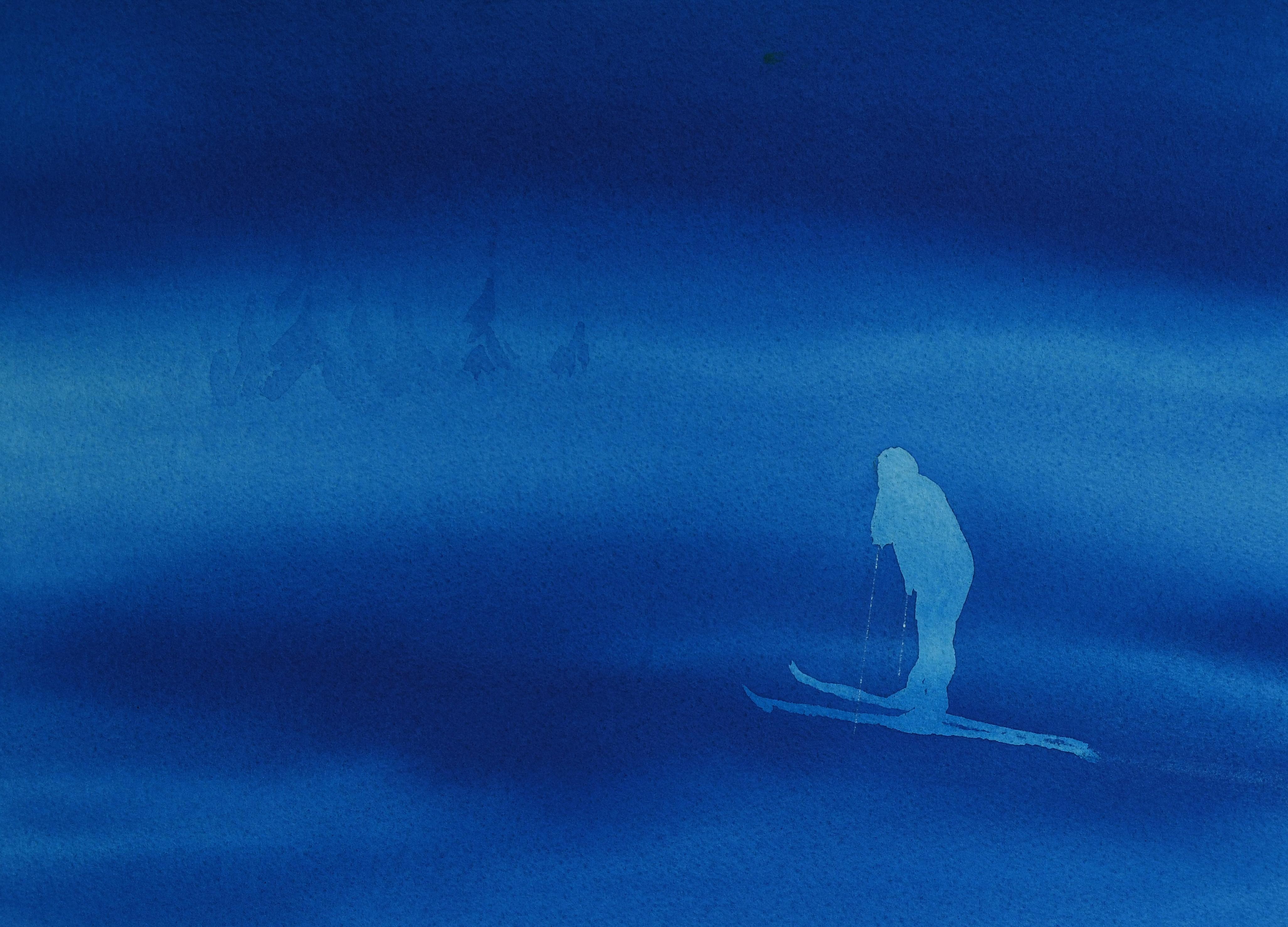 Skiløper (30 x 40 cm)