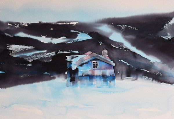 Alfred-huset (51 x 72 cm) 9.800 kr