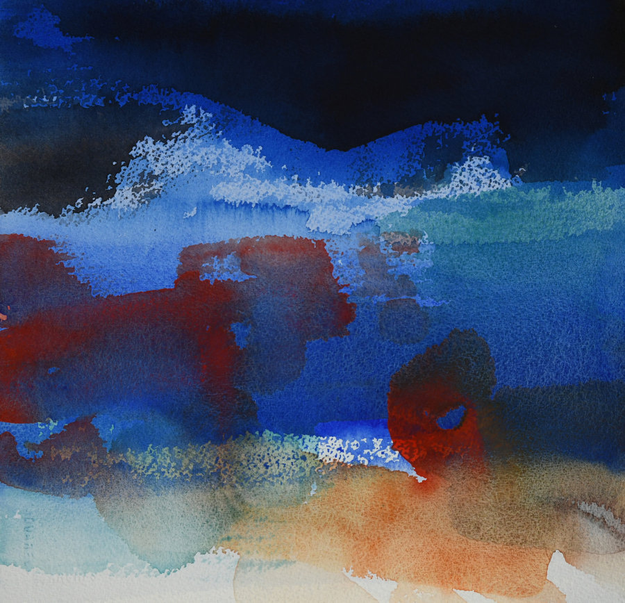 Abstrakt (30 x 30 cm) SOLGT