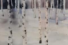 Skog med dompap (70 x 52 cm) 9800 kr