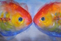 To fisker (32 x 51 cm) 6500 kr