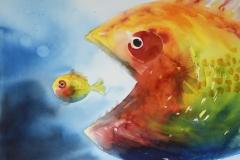 To fisker (54 x 72 cm) 9800 kr